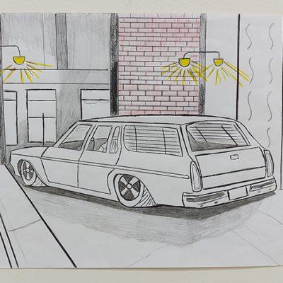 1114-Car-sedan-and-building